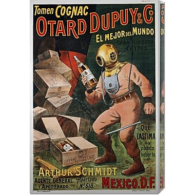 Global Gallery 'Cognac Otard Dupuy & Co' Vintage Advertisement on Wrapped Canvas