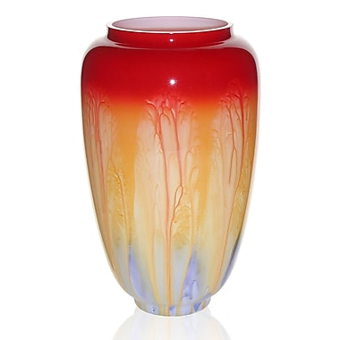 Womar Glass Hand Painted Glass Retro Series I Vase