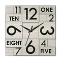 Ashton Sutton Modern Home Multi Layer Wall Clock