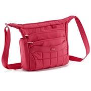 Lug Flutter Mini Cross-Body Bag; Rose Pink
