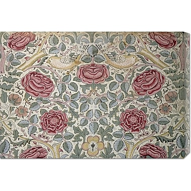 Global Gallery 'The Rose Pattern' by William Morris Painting Print on Wrapped Canvas