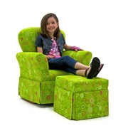 KidzWorld Circles Skirted Kid's  Rocking Chair and Ottoman Set