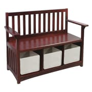 Guidecraft Classic Wooden Storage Bench