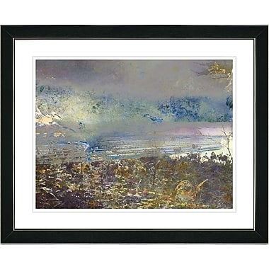 Studio Works Modern ''Sea Shore'' by Zhee Singer Framed Graphic Art; Black