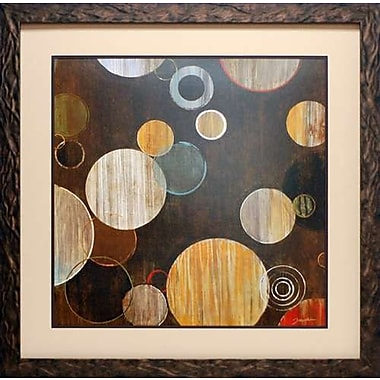 North American Art 'Warm Bubbles' by Liz Jardine Framed Graphic Art
