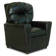 Dozy Dotes Cup Holder Leather Like Kid's Recliner; Black Leather Like