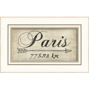 The Artwork Factory Paris 778Km Framed Textual Art