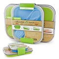 Smart Planet Collapsible Eco Lunch Box Set; Blue & Green