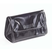 Clava Leather Wellie Cosmetic Pouch; Black