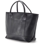 Clava Leather Unisex Travel Tote; Black