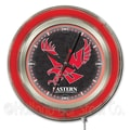 Holland Bar Stool NCAA 15'' Double Neon Ring Logo Wall Clock; Eastern Washington