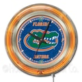 Holland Bar Stool NCAA 15'' Double Neon Ring Logo Wall Clock; Florida