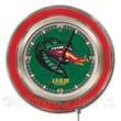 Holland Bar Stool NCAA 15'' Double Neon Ring Logo Wall Clock; Alabama at Birmingham