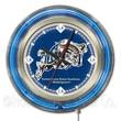 Holland Bar Stool NCAA 15'' Double Neon Ring Logo Wall Clock; US Naval Academy