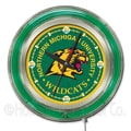 Holland Bar Stool NCAA 15'' Double Neon Ring Logo Wall Clock; Northern Michigan