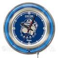 Holland Bar Stool NCAA 15'' Double Neon Ring Logo Wall Clock; Georgetown