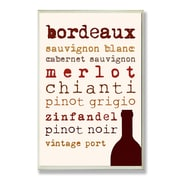 Stupell Industries Wine Types Typography Kitchen Wall Plaque