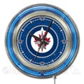 Holland Bar Stool NHL 15'' Double Neon Ring Logo Wall Clock; Winnipeg Jets
