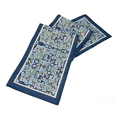 Rennie & Rose Design Group Arts and Crafts Asian Ornament Table Runner