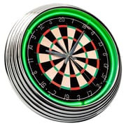 On The Edge Marketing Dart Board 14.75'' Neon Wall Clock