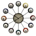Style Craft Oversized 25'' Pool Cue Ball Wall Clock