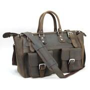 Vagabond Traveler Classic 21'' Cowhide Leather Overnight Travel Bag
