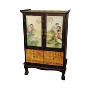 Oriental Furniture Beauty In The Garden 2 Door 2 Drawer Cabinet