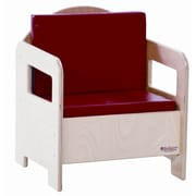 Wood Designs Natural Environment Kid's Club Chair; Red