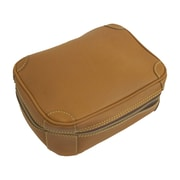 Mulholland Brothers Flat Leather Toiletry Bag; Lariat
