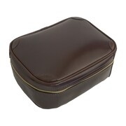 Mulholland Brothers Flat Leather Toiletry Bag; Stout