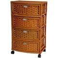 Oriental Furniture 4 Drawer Accent Chest; Honey