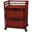 Oriental Furniture Natural Fiber 2 Drawer Chest; Mahogany