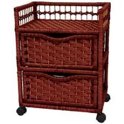 Oriental Furniture 2-Drawer Storage Chest; Mahogany