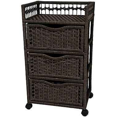 Oriental Furniture 3-Drawer Storage Chest; Black