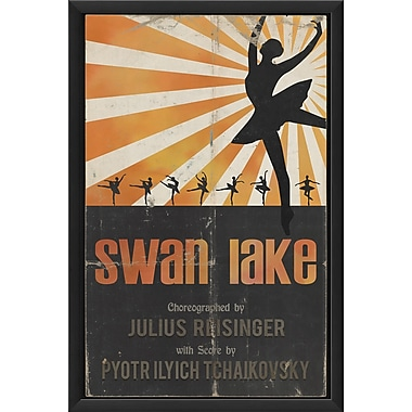 The Artwork Factory Swan Lake Framed Vintage Advertisement