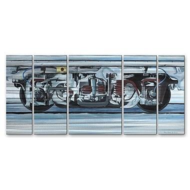 All My Walls 'Snowtruck' by Glen Frear 5 Piece Graphic Art Plaque Set