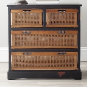 Safavieh Jackson 4 Drawer Storage Cabinet; Black
