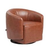 Rissanti Piedmont Asti Swivel Accent Chair; Saddle