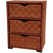 Oriental Furniture 3 Drawer Chest I; Honey