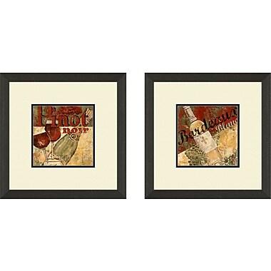 PTM Images Vintage Pinot Noir 2 Piece Framed Vintage Advertisement Set