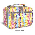 J World Cody Lunch Bag with Shoulder Strap; Squares Neon
