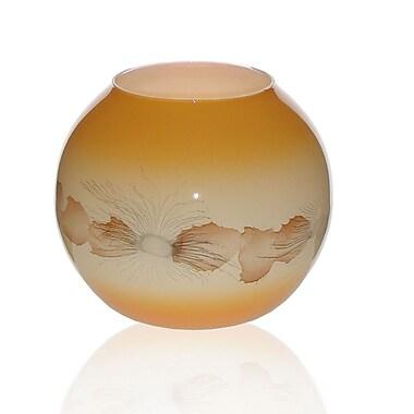 Womar Glass Sea Shore Vase; 6'' H x 7'' W x 7'' D