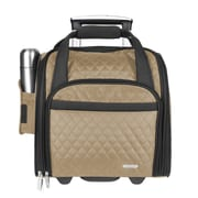 Travelon 14'' Rolling Underseat Quilted Microfiber Carry On; Khaki
