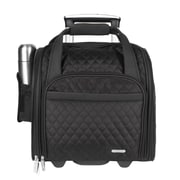 Travelon 14'' Rolling Underseat Quilted Microfiber Carry On; Black
