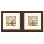 PTM Images Floral Bouquet Framed Canvas Art (Set of 2)