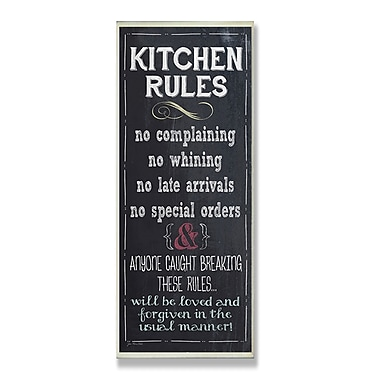 Stupell Industries Kitchen Rules Chalkboard Look Textual Art Wall Plaque