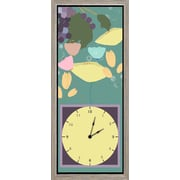 Green Leaf Art Fruits Garden II Art Clock