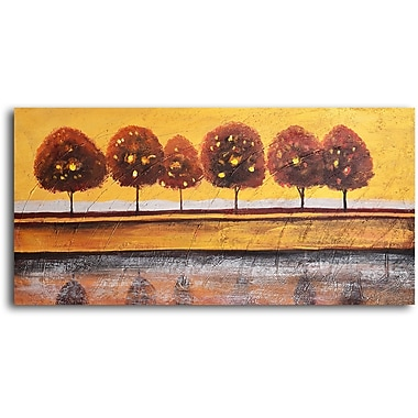My Art Outlet 'Luminaria Tree Reflection' Painting Print on Wrapped Canvas
