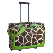 American Flyer Animal Print 17.5'' Underseater Boarding Tote; Green