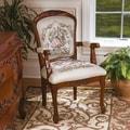 Design Toscano La Danse du Printemps Fauteuil Fabric Arm Chair